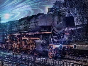 fantasy, engine, Train