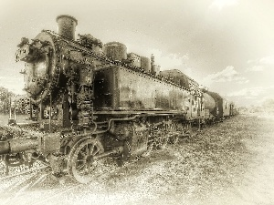 steam, Old, locomotive